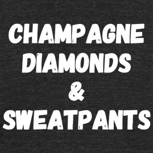 Sweatpants - Champagne Diamonds and Sweatpants - Unisex Tri-Blend T-Shirt by American Apparel