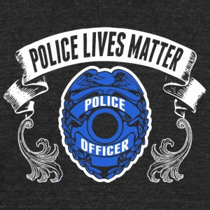 Police Officer - Police Officer Police Lives Mat - Unisex Tri-Blend T-Shirt by American Apparel