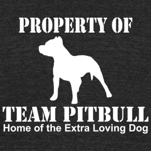 Pitbull - property of team pitbull home of the e - Unisex Tri-Blend T-Shirt by American Apparel