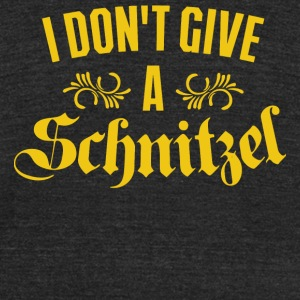 Schnitzel - I Don't Give A Schnitzel - Unisex Tri-Blend T-Shirt by American Apparel