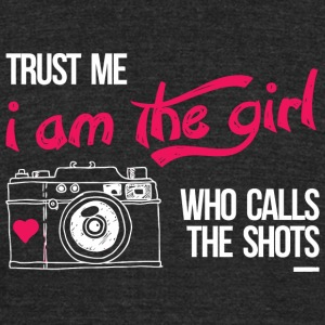 Photographer - trust me i am the girl who calls - Unisex Tri-Blend T-Shirt by American Apparel