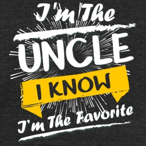 Uncle - I'm The Uncle I Know I'm The Favorite Sh - Unisex Tri-Blend T-Shirt by American Apparel