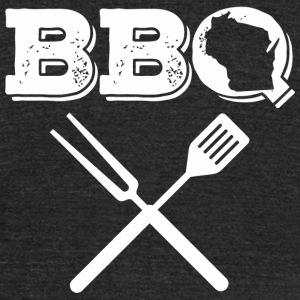 Wisconsin - Wisconsin BBQ Best Barbecue Ribs Mea - Unisex Tri-Blend T-Shirt by American Apparel