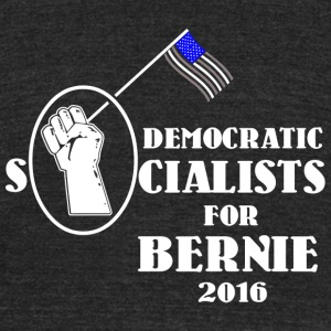 Socialist - Democratic Socialists for Bernie San - Unisex Tri-Blend T-Shirt by American Apparel