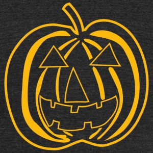 Halloween - Big Texas Halloween Pumpkin - Unisex Tri-Blend T-Shirt by American Apparel