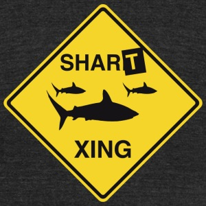 Shark - Shark Crossing - Unisex Tri-Blend T-Shirt by American Apparel