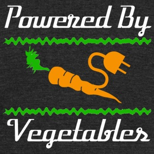 Vegan - Cool Unique Powered By Vegetables T-Shir - Unisex Tri-Blend T-Shirt by American Apparel