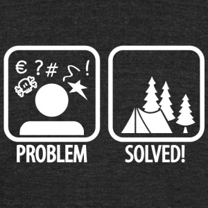 Camping - Problem Solved! - Unisex Tri-Blend T-Shirt by American Apparel