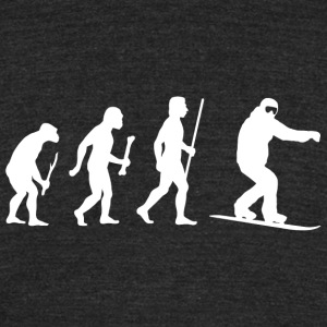 Snowboarding - Snowboarding Evolution of Man - Unisex Tri-Blend T-Shirt by American Apparel