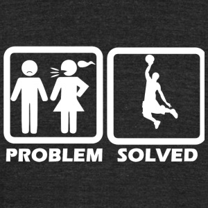 Basketball - Basketball Solved My Problem - Unisex Tri-Blend T-Shirt by American Apparel