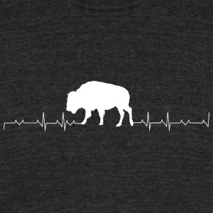 Bison - Bison Heartbeat - Unisex Tri-Blend T-Shirt by American Apparel