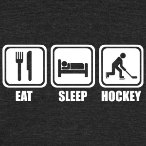 Hockey - Eat Sleep Ice Hockey - Unisex Tri-Blend T-Shirt by American Apparel