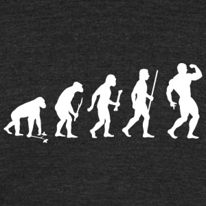Bodybuilding - Bodybuilding Pose Evolution - Unisex Tri-Blend T-Shirt by American Apparel