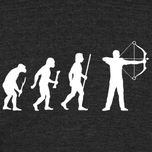 Archery - Archery Evolution White - Unisex Tri-Blend T-Shirt by American Apparel