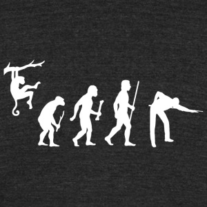Pool - Evolution of Man and Pool - Unisex Tri-Blend T-Shirt by American Apparel