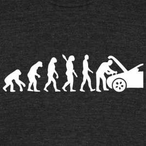 Automotive Technician - Evolution Mechanic Funny - Unisex Tri-Blend T-Shirt by American Apparel
