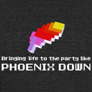 Phoenix Down - Bringing Life to the Party Like P - Unisex Tri-Blend T-Shirt by American Apparel