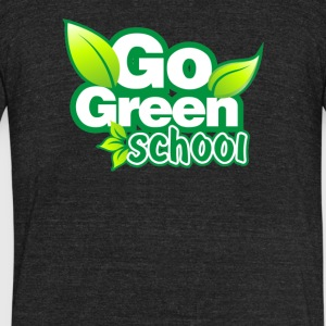 Green Sch - Unisex Tri-Blend T-Shirt by American Apparel
