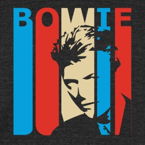 Retro Bowie - Unisex Tri-Blend T-Shirt by American Apparel