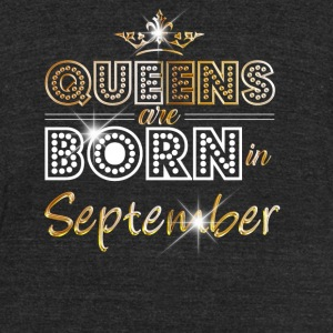 Queens are born in September - Gold - Unisex Tri-Blend T-Shirt by American Apparel