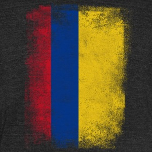 Colombia Flag Proud Colombian Vintage Distressed - Unisex Tri-Blend T-Shirt by American Apparel