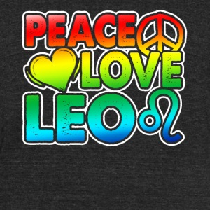 PEACE LOVE LEO SHIRT - Unisex Tri-Blend T-Shirt by American Apparel