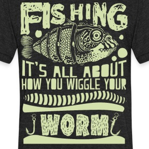 fishing - Unisex Tri-Blend T-Shirt by American Apparel
