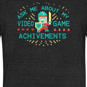 Ask Me About My Video Game - Unisex Tri-Blend T-Shirt by American Apparel