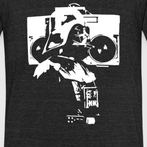 Darth Vader With Boom Box - Unisex Tri-Blend T-Shirt by American Apparel