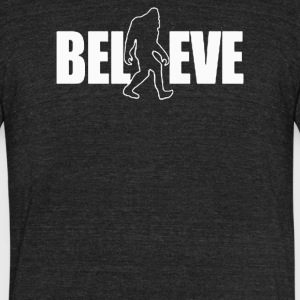 Believe in Bigfoot - Unisex Tri-Blend T-Shirt by American Apparel