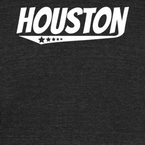 Houston Retro Comic Book Style Logo - Unisex Tri-Blend T-Shirt by American Apparel
