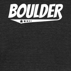 Boulder Retro Comic Book Style Logo - Unisex Tri-Blend T-Shirt by American Apparel