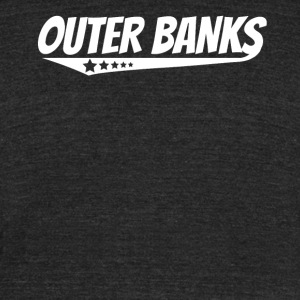 Outer Banks Retro Comic Book Style Logo - Unisex Tri-Blend T-Shirt by American Apparel