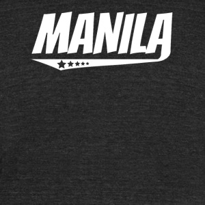 Manila Retro Comic Book Style Logo - Unisex Tri-Blend T-Shirt by American Apparel