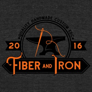 Fiber and Iron - Unisex Tri-Blend T-Shirt by American Apparel