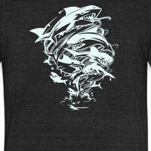 Tornado of Sharks - Unisex Tri-Blend T-Shirt by American Apparel