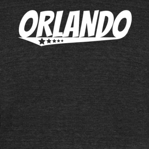 Orlando Retro Comic Book Style Logo - Unisex Tri-Blend T-Shirt by American Apparel