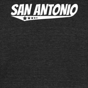San Antonio Retro Comic Book Style Logo - Unisex Tri-Blend T-Shirt by American Apparel