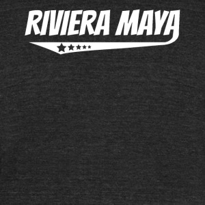 Riviera Maya Retro Comic Book Style Logo - Unisex Tri-Blend T-Shirt by American Apparel