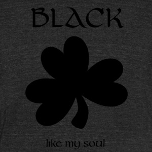 Black Soul St. Patricks Day Shamrock - Unisex Tri-Blend T-Shirt by American Apparel