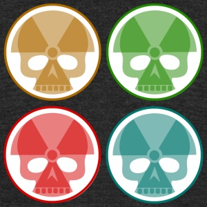 four nuclear skulls - Unisex Tri-Blend T-Shirt by American Apparel