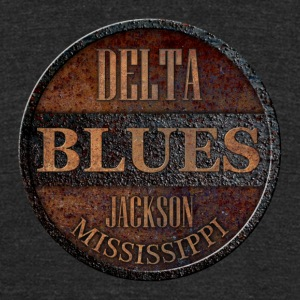 rusty delta blues jackson - Unisex Tri-Blend T-Shirt by American Apparel