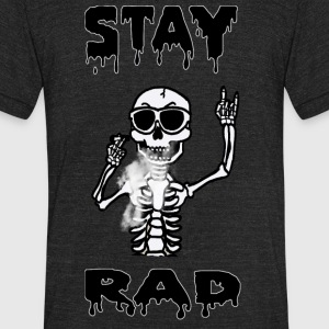 Skeleton Smoking - Unisex Tri-Blend T-Shirt by American Apparel