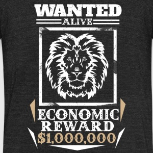 Lion Wanted Alive - Unisex Tri-Blend T-Shirt by American Apparel