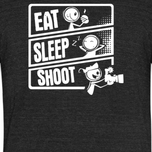 Eat Sleep Shoot - Unisex Tri-Blend T-Shirt by American Apparel