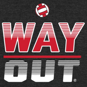 Way Out Volleyball Team Design - Unisex Tri-Blend T-Shirt by American Apparel