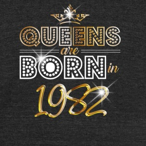 1982 - Birthday - Queen - Gold - EN - Unisex Tri-Blend T-Shirt by American Apparel