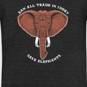 Trade in ivory save elephants - Unisex Tri-Blend T-Shirt by American Apparel