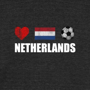 Netherlands Football Netherlander or Dutch Soccer - Unisex Tri-Blend T-Shirt by American Apparel