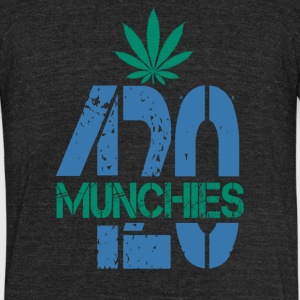 420 Munchies Weed leaf - Unisex Tri-Blend T-Shirt by American Apparel